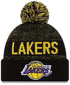 Los Angeles Lakers Blackout Speckle Knit Hat