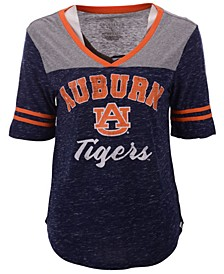 Women's Auburn Tigers Mr Big V-neck T-Shirt