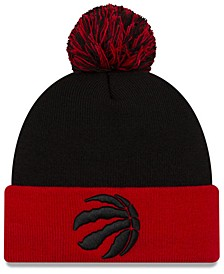 Toronto Raptors Black Pop Knit Hat