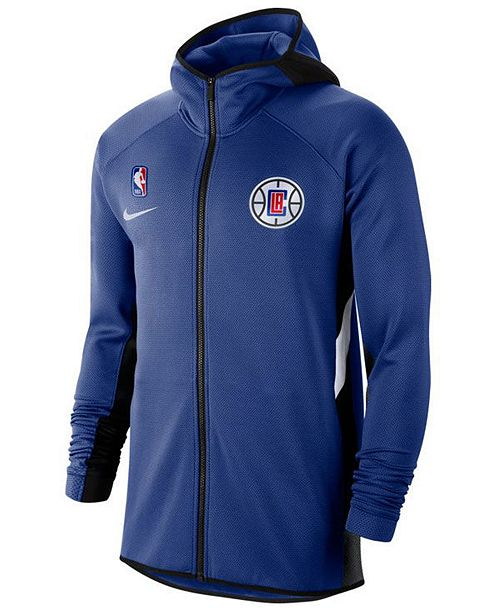 Nike Men's Los Angeles Clippers Thermaflex Showtime Full-Zip Hoodie