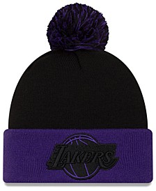 Los Angeles Lakers Black Pop Knit Hat