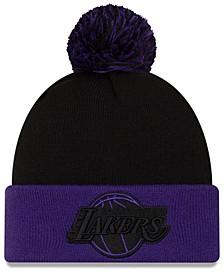 Los Angeles Lakers Black Pop Knit Hat