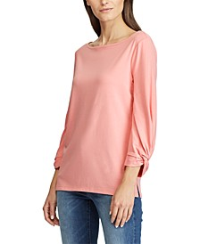 Petite Jersey Boatneck Top