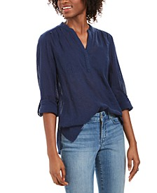 Textured V-Neck Top, Created For Macy's