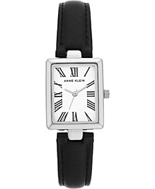 Women's Black Polyurethane Strap Watch 23x28mm