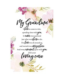 """My Grandma Woodland Grace Series Wood Plaque with Easel, 6"""" x 9"""""""