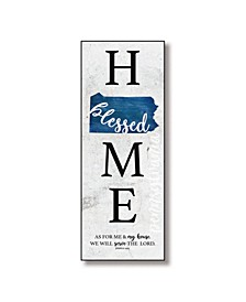 "Pennsylvania Home-Blessed Wood Wall Plaque with Hanger, 5.5"" x 12"""