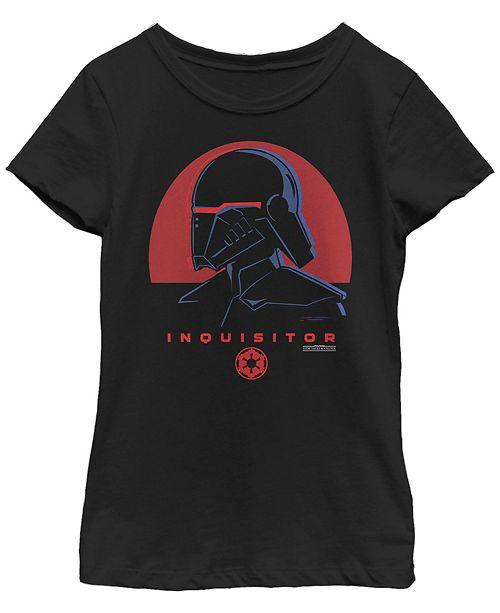 Star Wars Big Girls Jedi Fallen Order Red Sun inquisitor Short Sleeve T-Shirt