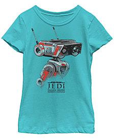 Star Wars Big Girls Jedi Fallen Order Droid BD-1 Short Sleeve T-Shirt