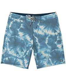 Men's All Day Riot Lo Tide Micro Repel Tie-Dyed Board Shorts