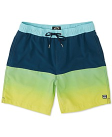 "Men's Fifty 50 Layback Pro 4-Way Stretch Micro Repel Colorblocked 17"" Swim Trunks"