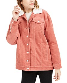 Faux-Sherpa-Lined Corduroy Jacket