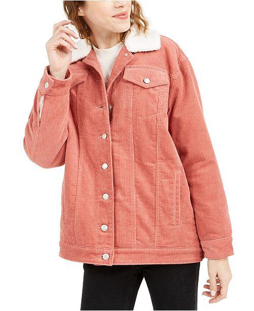 OAT Faux-Sherpa-Lined Corduroy Jacket