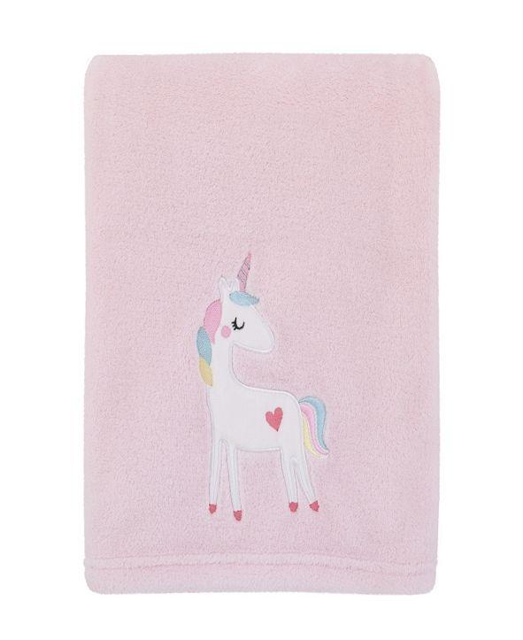 NoJo Rainbow Unicorn Baby Blanket