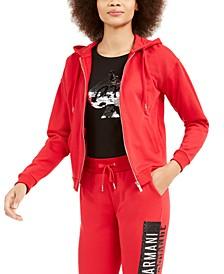 Glitter-Logo Hooded Sweatshirt