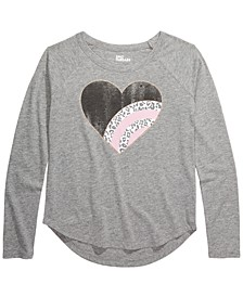Big Girls Leopard Heart T-Shirt, Created For Macy's
