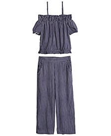 Big Girls 2-Pc. Off-The-Shoulder Top & Pants Set, Created For Macy's