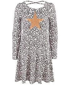 Big Girls Snow Leopard Heart Dress, Created For Macy's