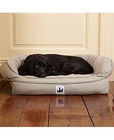 Ez Wash Fleece Headrest Memory Foam Dog Bed, Medium