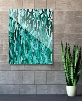 """Kitoba in Green Abstract 20"""" x 24"""" Acrylic Wall Art Print"""