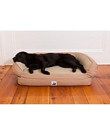 Ez Wash Fleece Headrest Polyester Fill Dog Bed, Large