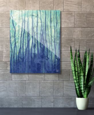 """Running Up in Blue Abstract 16"""" x 20"""" Acrylic Wall Art Print"""
