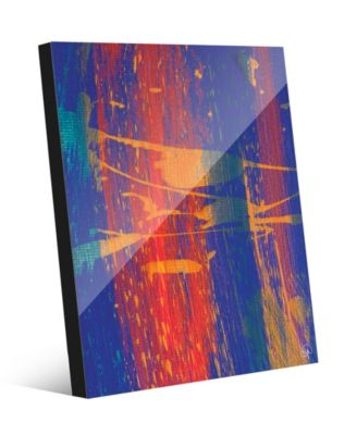 """Young Brushstrokes Primary Abstract 24"""" x 36"""" Acrylic Wall Art Print"""