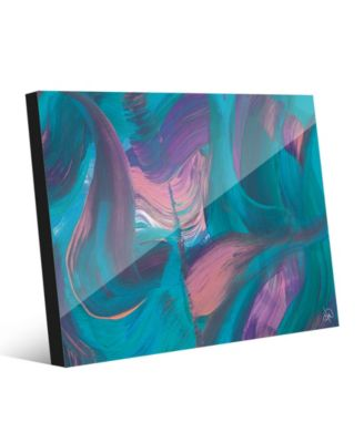 Tumba Part Two in Cyan Pink Abstract 16