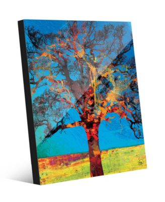 Radiant Tree in Red Yellow Abstract 16