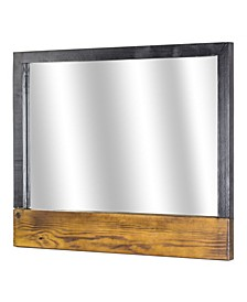 American Art Decor Rustic Wood Wall Mirror