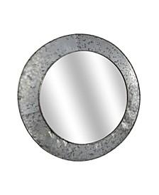 American Art Decor Galvanized Round Mirror