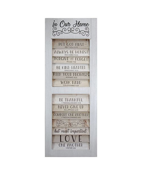 Crystal Art Gallery American Art Decor 10 Bible Quotes to Live By in Our Home Wall Decor