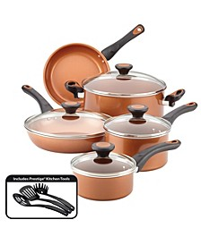 Glide Copper Ceramic 12-pc. Cookware Set