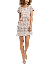 Petite Tweed Sheath Dress