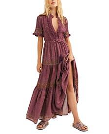 Rare Feeling Pleated Printed Dress