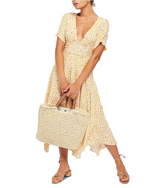 Free People In Full Bloom Midi Dress