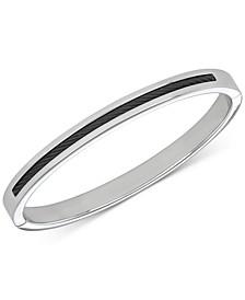 Men's Inlaid Cable Bangle Bracelet