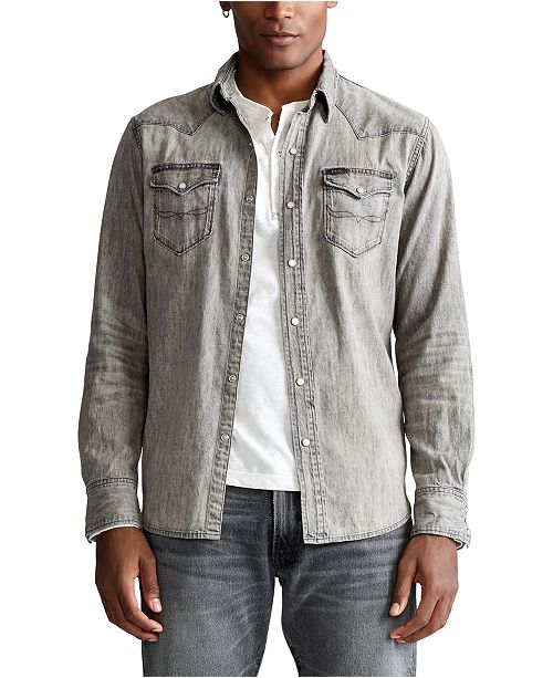 Polo Ralph Lauren Men's Big & Tall Classic Fit Western Shirt