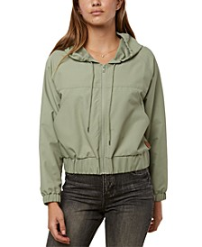 Juniors' Whirl Hooded Rain Jacket