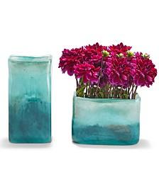 Green to Blue Landscape Vases - Set of 2