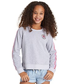 Big Girls Striped Trim Sweatshirt