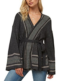 Juniors' Doheny Belted Cardigan