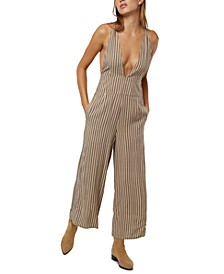 Juniors' Wyatt Striped Jumpsuit
