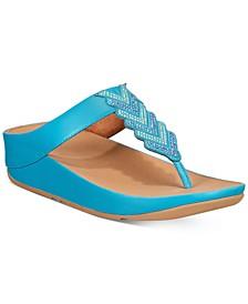 Cora Crystal Thong Sandals