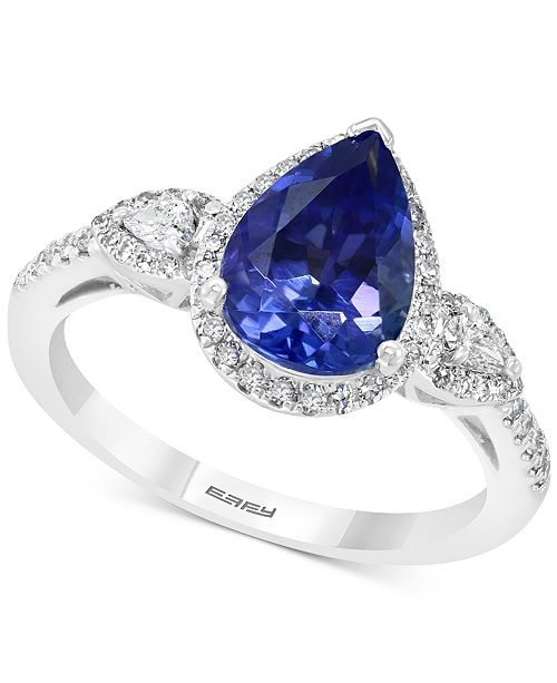 EFFY Collection EFFY® Tanzanite (1-3/4 ct.t.w.) & Diamond (1/3 ct. t.w.) Ring in 14k White Gold