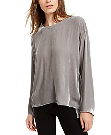 Boat-Neck High-Low Top