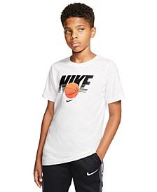 Big Boys Cotton Basketball T-Shirt