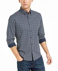 Men's Slim-Fit Mini-Floral Shirt