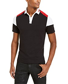 INC Men's Colorblocked Polo Shirt, Created For Macy's