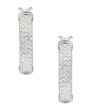 1/2 ct. t.w. Round Shape Diamond Hoop Earring in Sterling Silver
